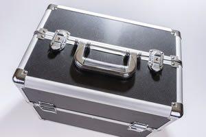 mehrfach klappbare Werkzeugbox silber schwarz