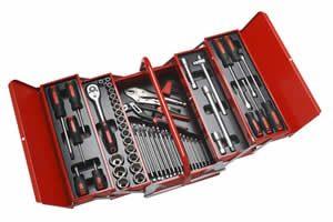 Einfacher Werkzeugkasten rot